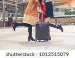 two woman passenger  walking in ...   Shutterstock . vector #1012515079