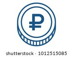 the russian currency is the... | Shutterstock .eps vector #1012515085