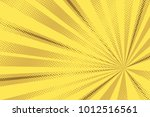 pop art yellow background ... | Shutterstock .eps vector #1012516561