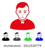 pitiful priest vector pictogram.... | Shutterstock .eps vector #1012520779