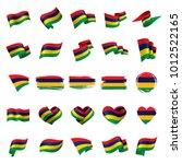 mauritius flag  vector... | Shutterstock .eps vector #1012522165