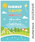 beach club or camp for kids.... | Shutterstock .eps vector #1012524145