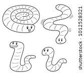 vector set of worm | Shutterstock .eps vector #1012528321