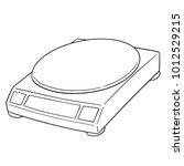 vector of weighing machine | Shutterstock .eps vector #1012529215