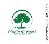 oak tree logo design | Shutterstock .eps vector #1012534771