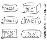 vector set of taxi sign | Shutterstock .eps vector #1012537369