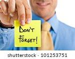 businessman reminding something | Shutterstock . vector #101253751