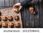 traditional easter treats cross ... | Shutterstock . vector #1012538641
