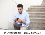portrait of young arabic man... | Shutterstock . vector #1012539124