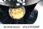 top view a cup of coffee with... | Shutterstock . vector #1012542889
