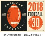 american football typographical ... | Shutterstock .eps vector #1012544617