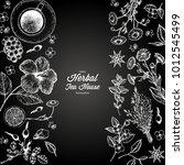 herbal tea shop vector... | Shutterstock .eps vector #1012545499