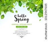 spring leaves background ...   Shutterstock .eps vector #1012547035