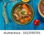 east african cuisine   hilb  ... | Shutterstock . vector #1012550701