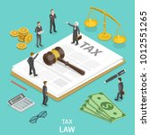 tax law flat isometric vector... | Shutterstock .eps vector #1012551265