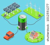 alternative green energy flat... | Shutterstock .eps vector #1012551277