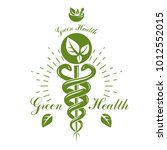 pharmacy caduceus icon  vector... | Shutterstock .eps vector #1012552015
