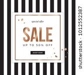 sale sign design for banner or... | Shutterstock .eps vector #1012552387