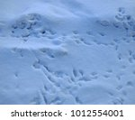 rough snow surface with shadows ... | Shutterstock . vector #1012554001