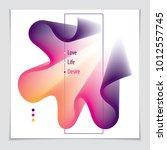 vector of modern abstract shape ... | Shutterstock .eps vector #1012557745