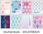 cover with minimal designs. web ... | Shutterstock .eps vector #1012558324
