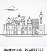 linear illustration of berlin ...   Shutterstock .eps vector #1012559725