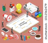 content strategy flat isometric ...   Shutterstock . vector #1012562479