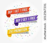 buy 1 get 1 free  buy 2 get 1... | Shutterstock .eps vector #1012567231