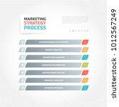 marketing strategy process | Shutterstock .eps vector #1012567249