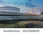 oil and gas refinery industrial ... | Shutterstock . vector #1012568245
