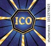 ico and token conceptual design ... | Shutterstock .eps vector #1012570825