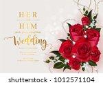 wedding invitation card... | Shutterstock .eps vector #1012571104