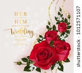 wedding invitation card... | Shutterstock .eps vector #1012571107