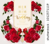 wedding invitation card... | Shutterstock .eps vector #1012571119