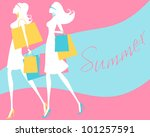 vector illustration of two... | Shutterstock . vector #101257591