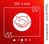 symbol of handshake in circle.... | Shutterstock .eps vector #1012579951