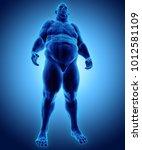 3d illustration male fat... | Shutterstock . vector #1012581109