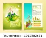 eco energy concept brochure... | Shutterstock .eps vector #1012582681