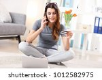 picture showing young woman... | Shutterstock . vector #1012582975
