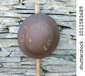 Vintage Steel Combat Helmet...