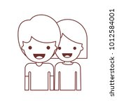 half body people with boy in t... | Shutterstock .eps vector #1012584001