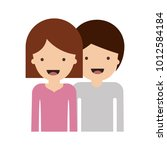 half body people and woman... | Shutterstock .eps vector #1012584184