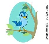 cartoon illustration of a bird...   Shutterstock . vector #101258587