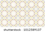 colorful mosaic seamless... | Shutterstock . vector #1012589137