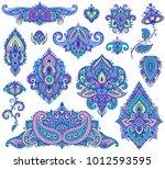 big vector set of colorful... | Shutterstock .eps vector #1012593595