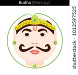 budha  mercury . vector...