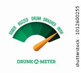 drunk o meter  17 march saint... | Shutterstock .eps vector #1012600255
