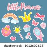 little princess set of modern... | Shutterstock .eps vector #1012602625