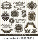 vintage styled premium quality... | Shutterstock .eps vector #101260417