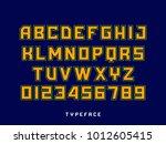 sport font. vector alphabet...   Shutterstock .eps vector #1012605415